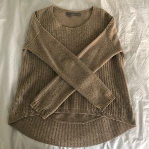 Beige High/Low Hem Sweater